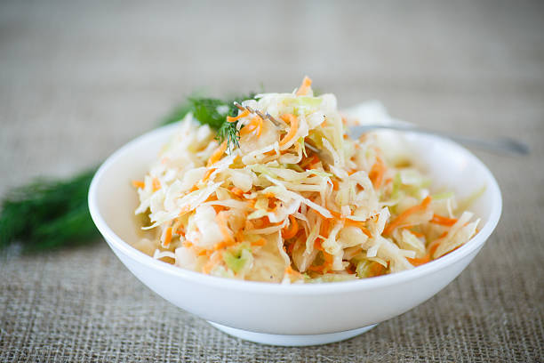 sauerkraut - coleslaw stock pictures, royalty-free photos & images