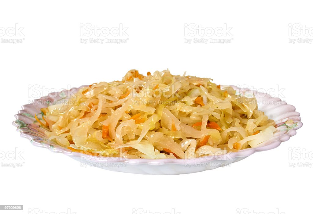 Sauerkraut royalty-free stock photo