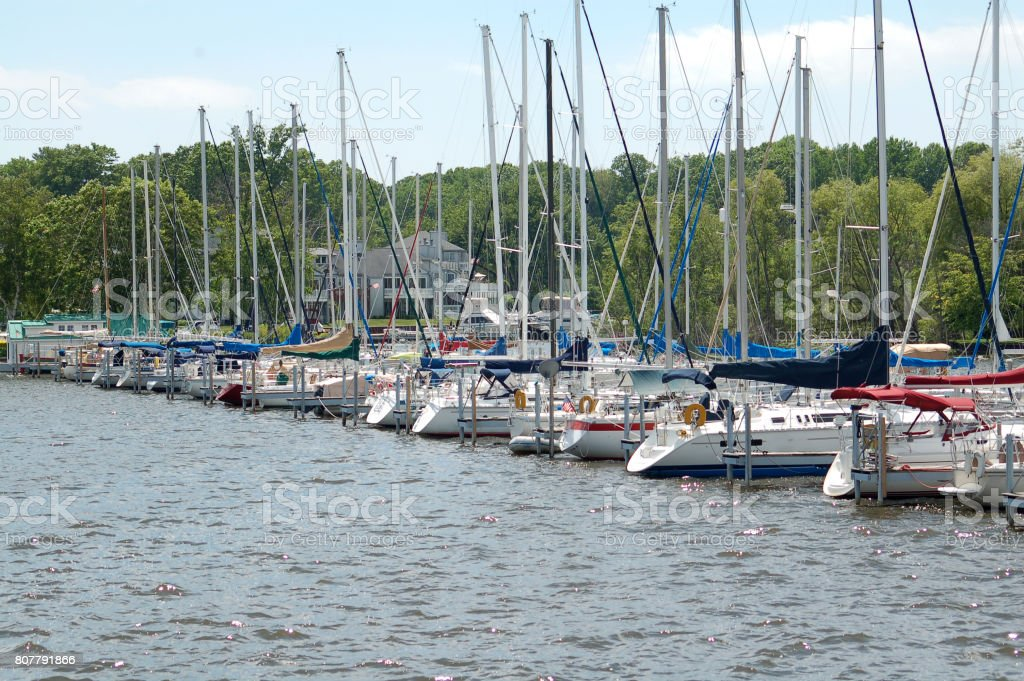 Saugatuck Harbor stock photo
