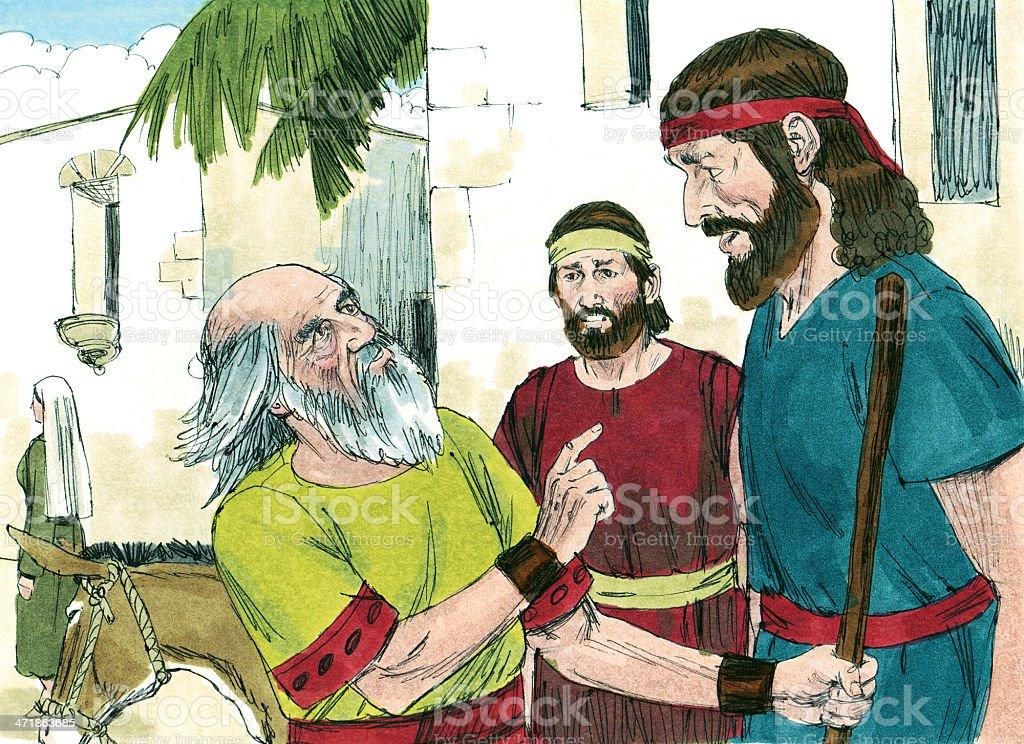Saul Hears Surprising News stock photo