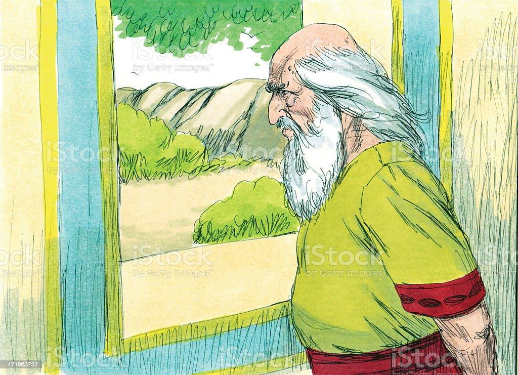 Saul--Samuel Sad royalty-free stock photo