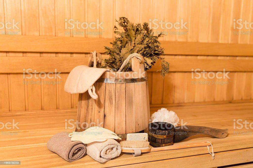 sauna-Ausstattung - Lizenzfrei Aktivitäten und Sport Stock-Foto