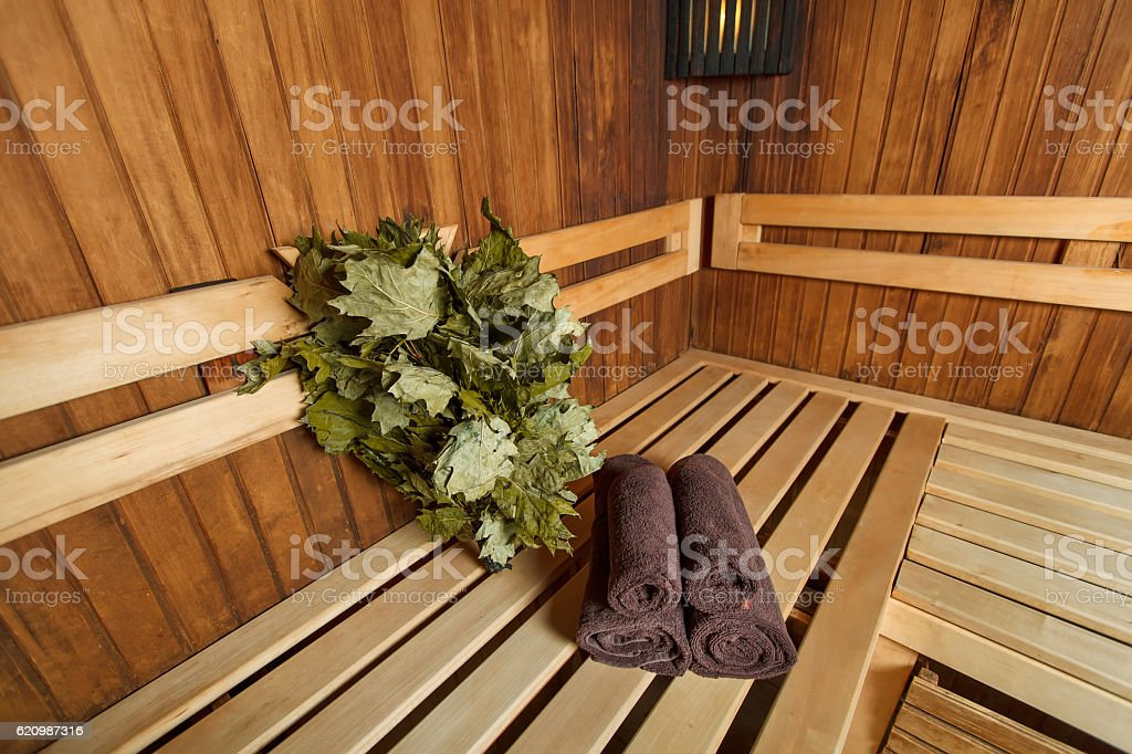 Sauna for relaxation and spa therapy. foto royalty-free