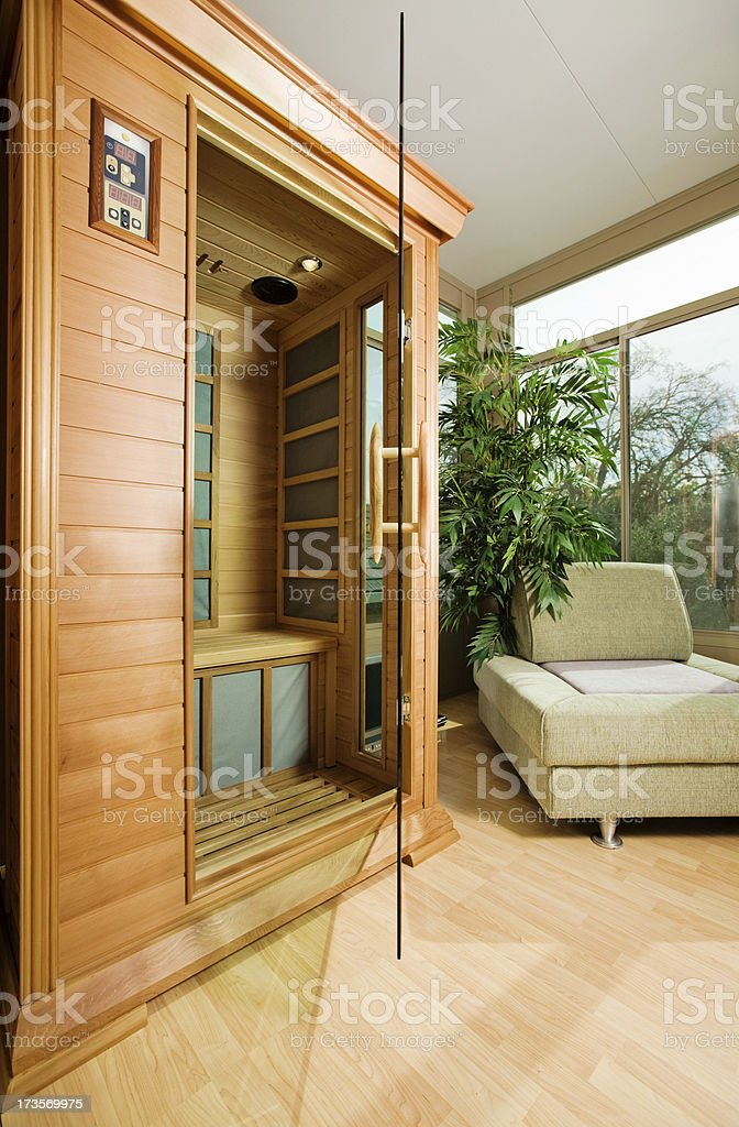 Sauna In A Sunroom stock photo