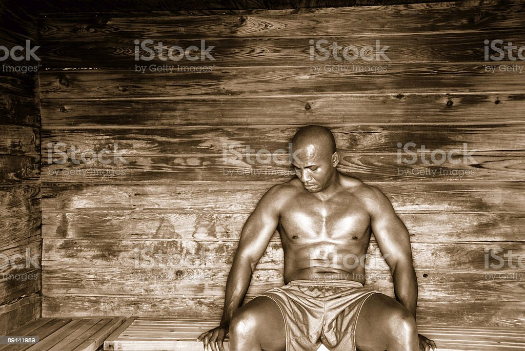 Sauna in Sepia royalty-free stock photo