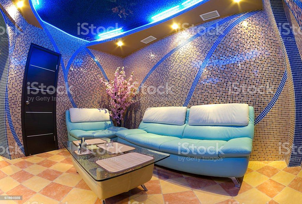 sauna interior royalty-free stock photo