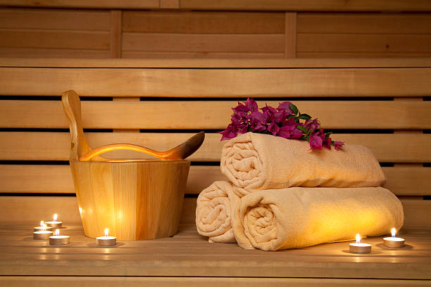 Sauna Spa sauna image. Traditional Healthy Lifestyle treatment. sauna stock pictures, royalty-free photos & images