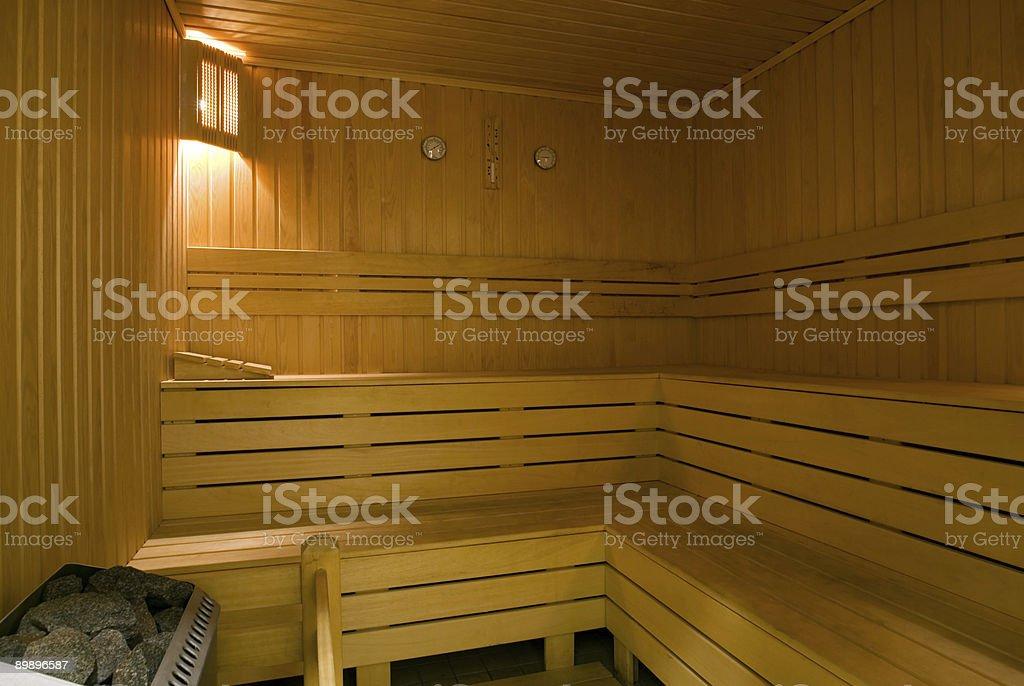 Eine sauna Lizenzfreies stock-foto