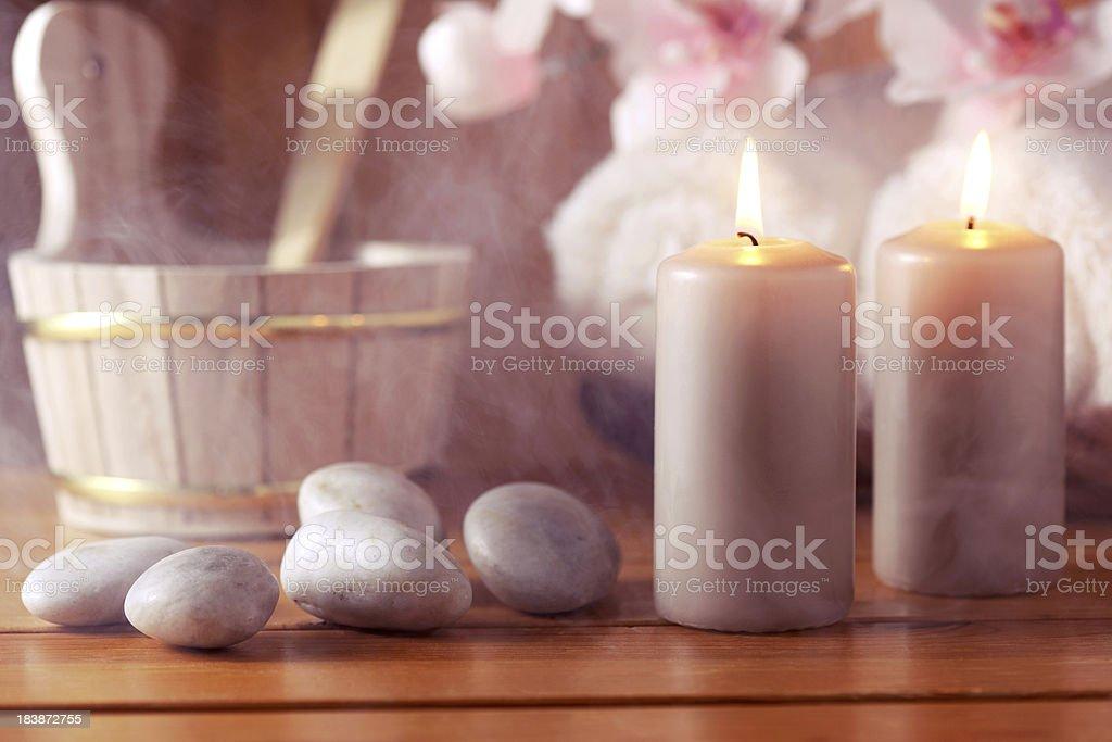 Sauna relaxation royalty-free stock photo