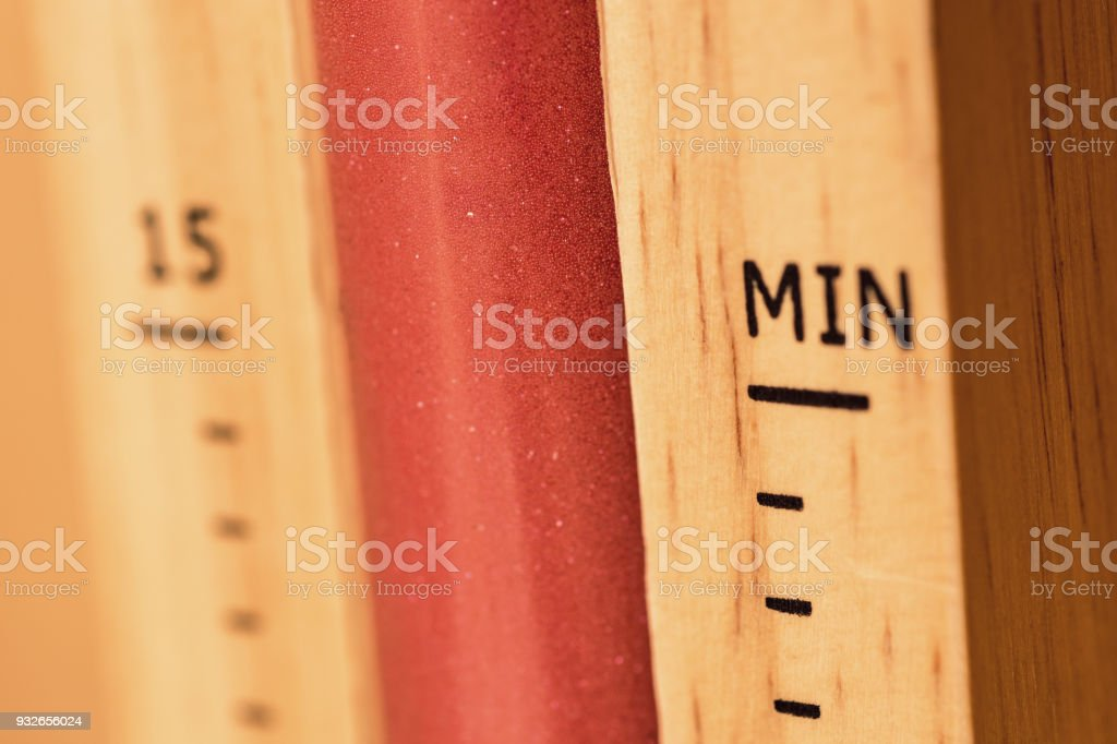 Sauna Thermometer on Wooden Base with Celsius Scale stock photo