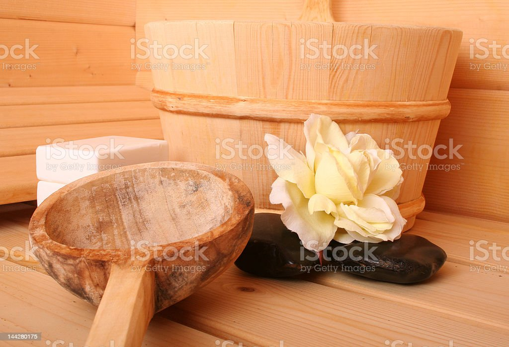Sauna VI stock photo