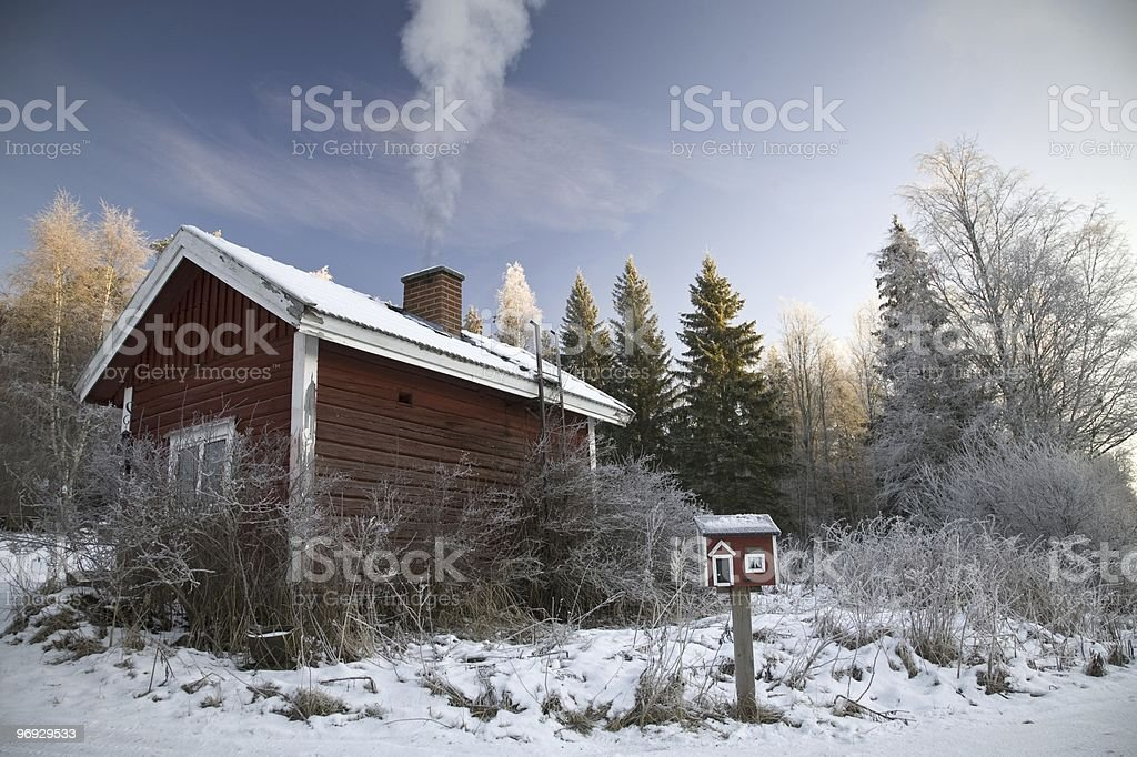 Sauna warming up royalty-free stock photo