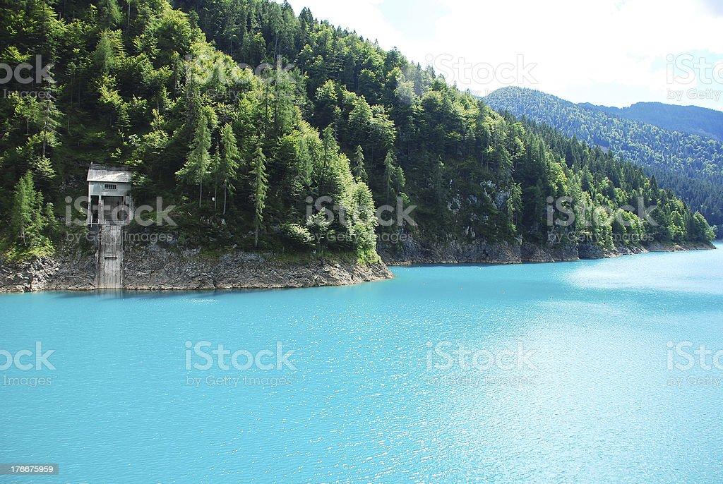 Sauris Lake royalty-free stock photo