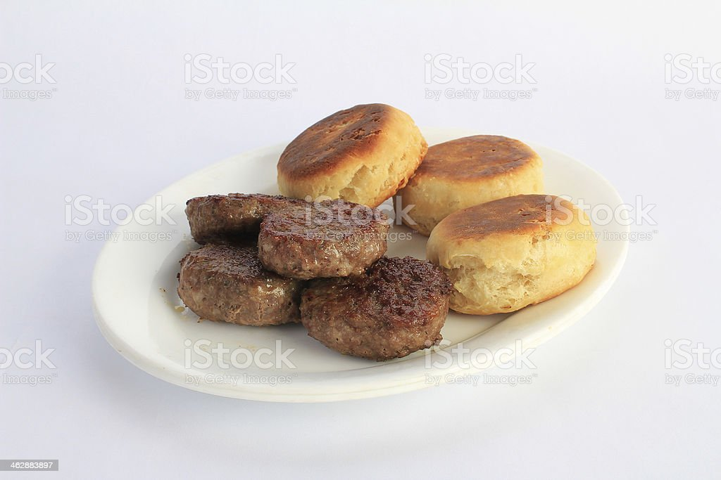 Sausage and Biscuits stock photo
