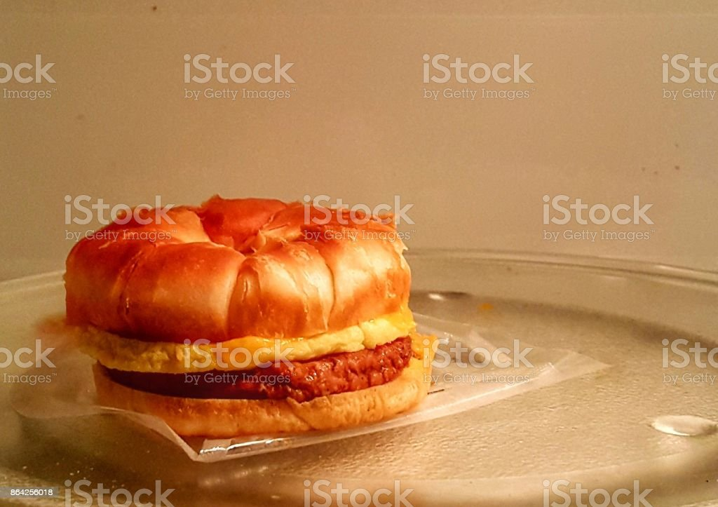 Sausage egg and cheese croissant royalty-free stock photo