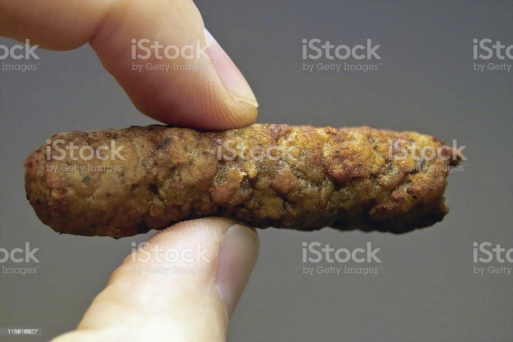 Sausage Log royalty-free stock photo