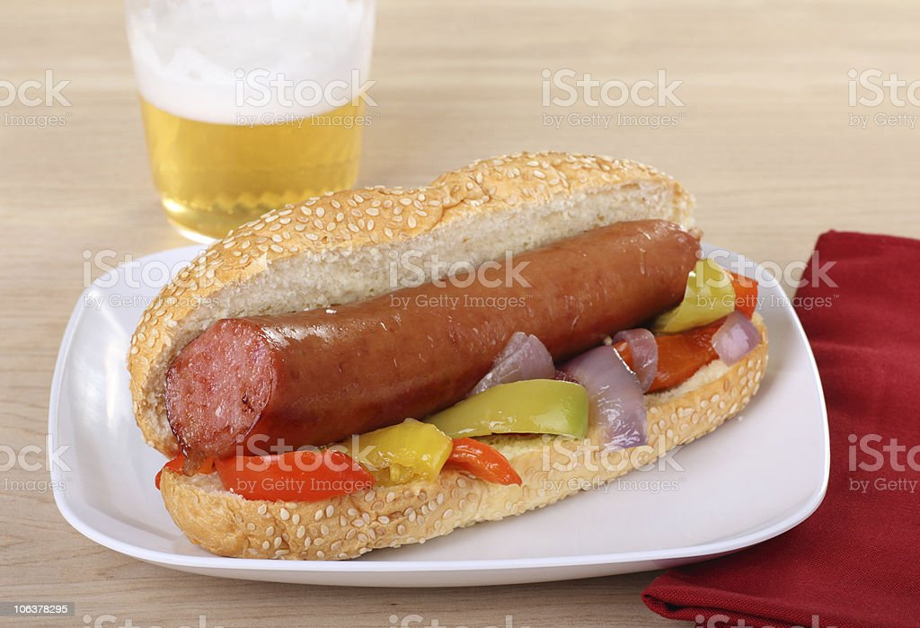 Sausage on a Bun stock photo