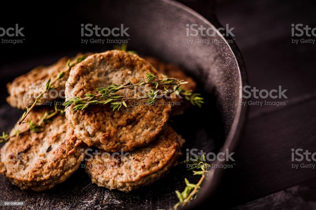 Sausage Patties stock photo