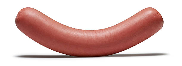 sausage(isolated with clipping path over white background) - sausage stock photos and pictures