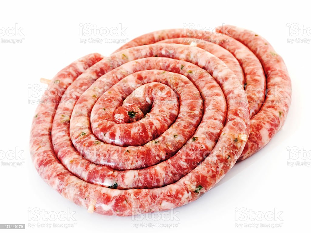 sausage pinwheel stock photo