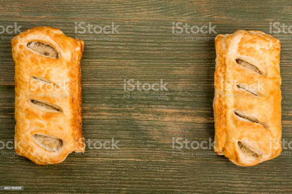Sausage Rolls in Pastry stock photo