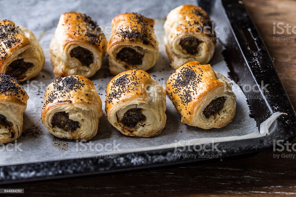 Sausage Rolls with Sichuan Pepper stock photo