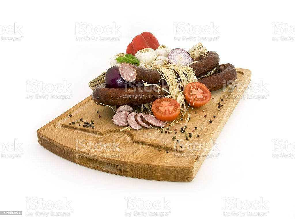 sausage with vegetables royalty-free stock photo