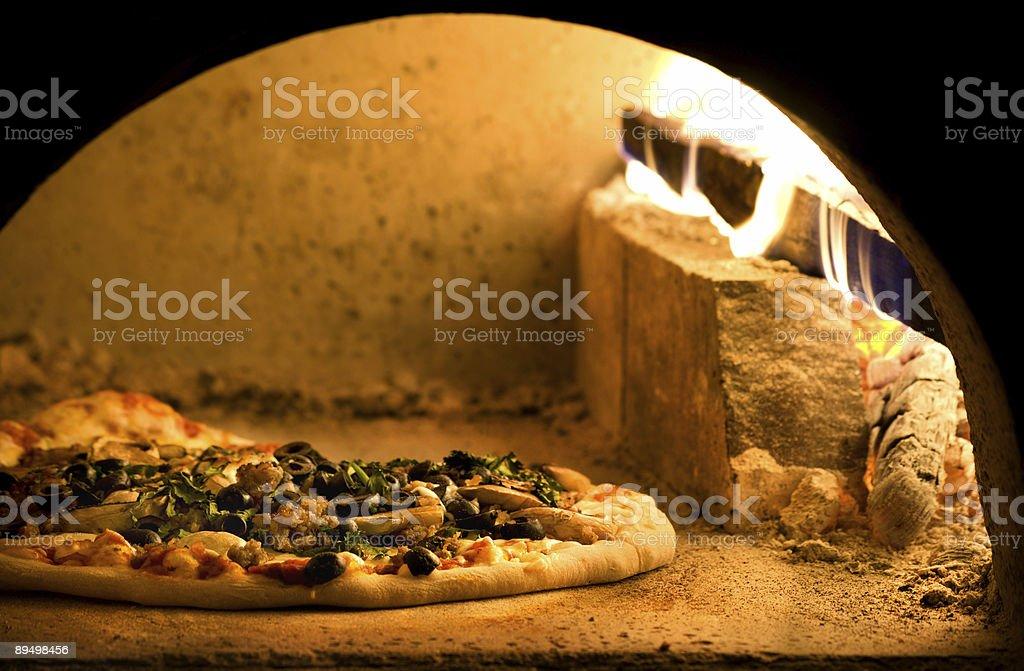 Sausage,Olive and Mushroom royaltyfri bildbanksbilder