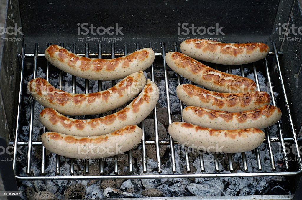 Sausages and Barbecue royalty-free stock photo