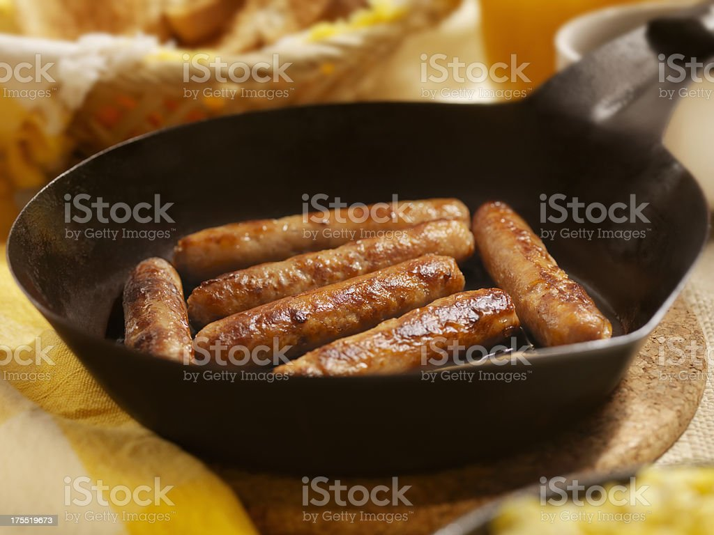 Sausages and Eggs stock photo