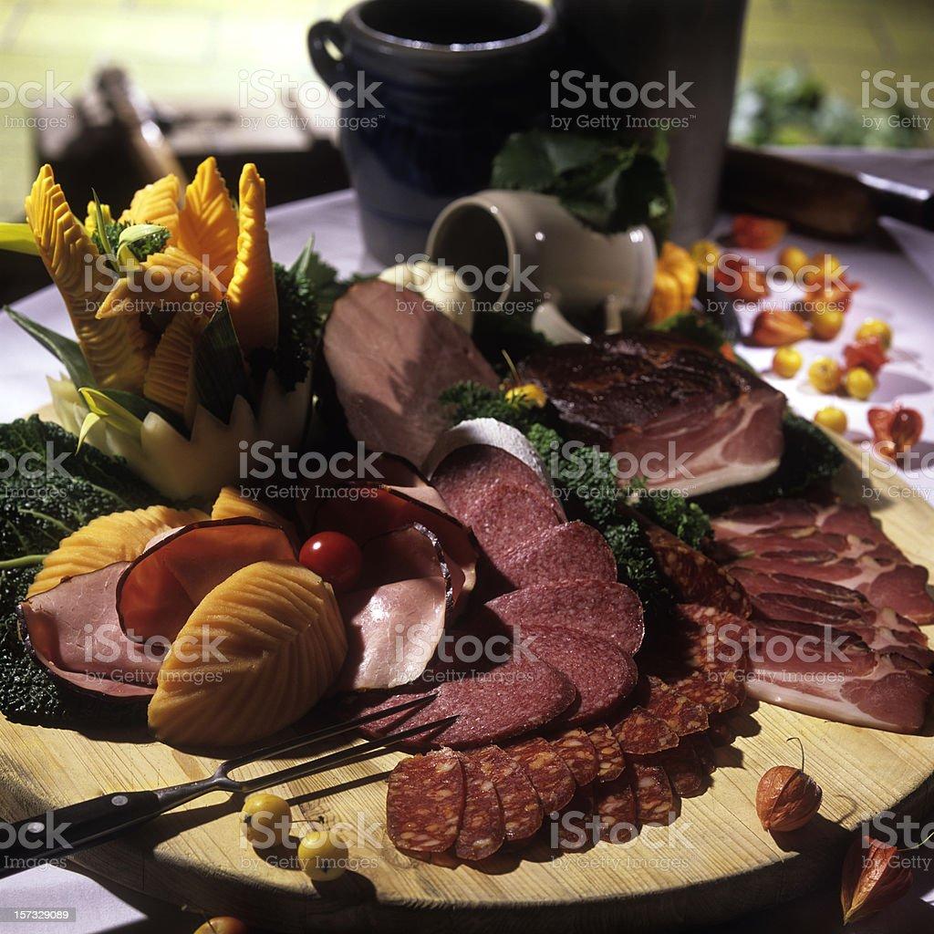 Sausages arrangement stock photo