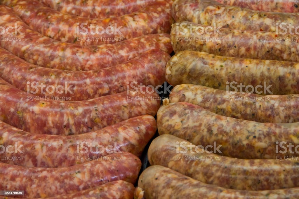 Sausages for sale royalty-free stock photo