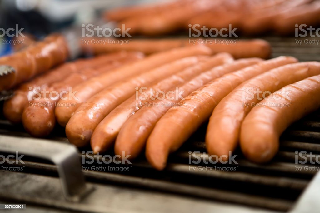 BBQ Sausages stock photo