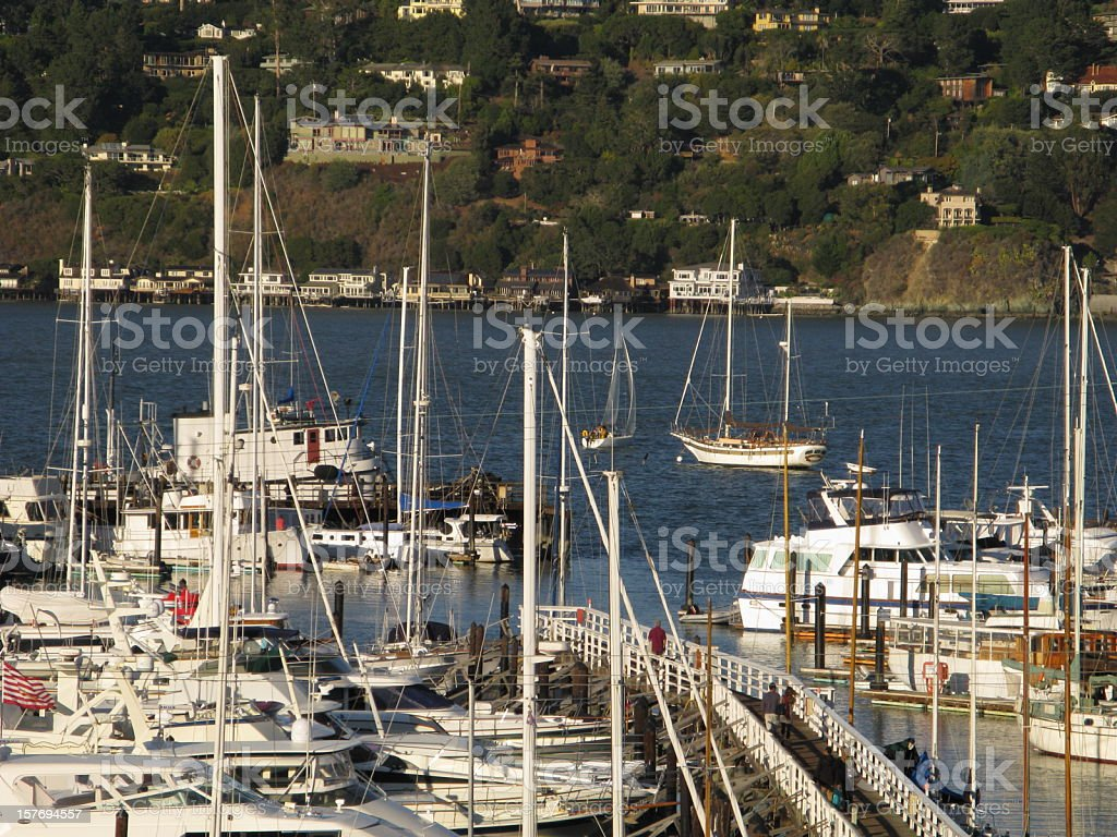 Sausalito California Marina royalty-free stock photo