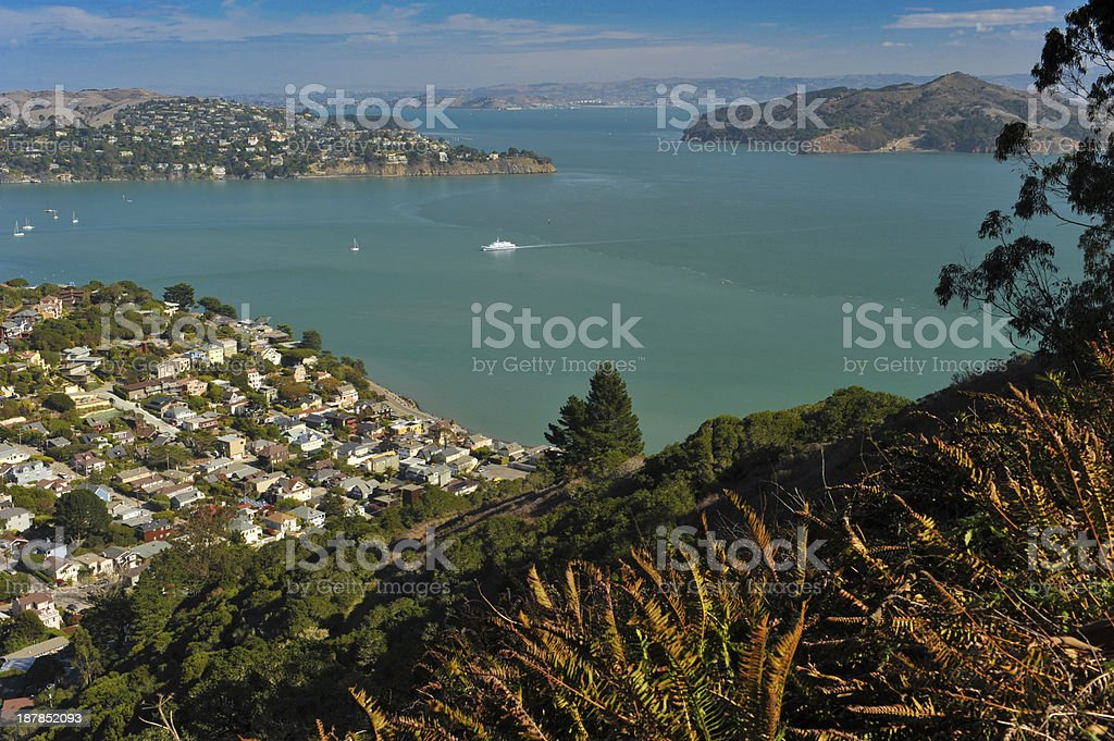 Sausalito Hügel, Belvedere Winkel Island, die San Francisco Bay. – Foto