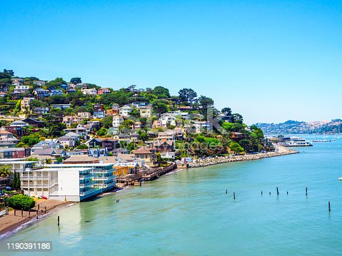Sausalito near San Francisco in California