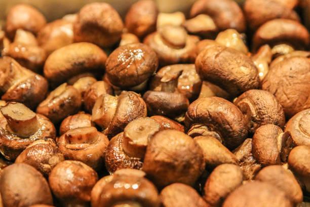 Saute Brown Button Mushrooms