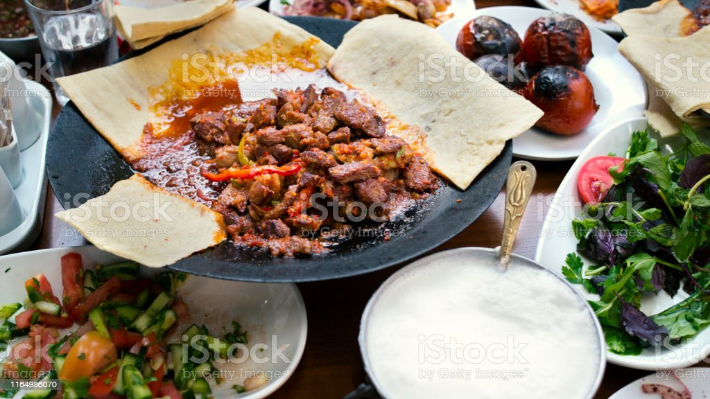 saute pan-cooked meal in turkey meat. turkey meat meal and restaurant...