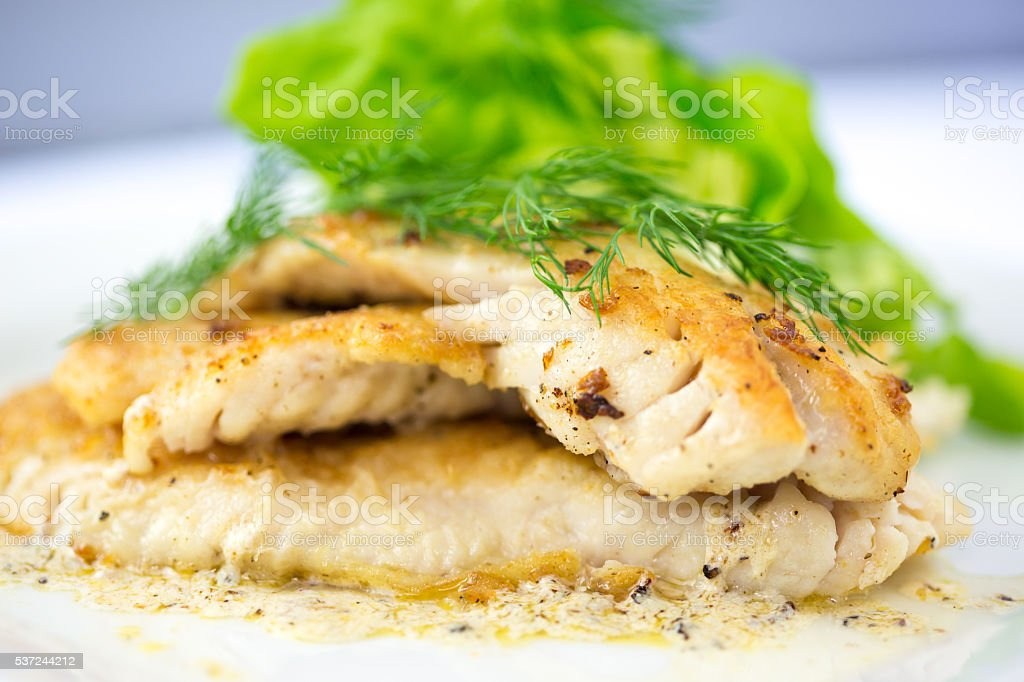 Sauted Filet of Sole stock photo