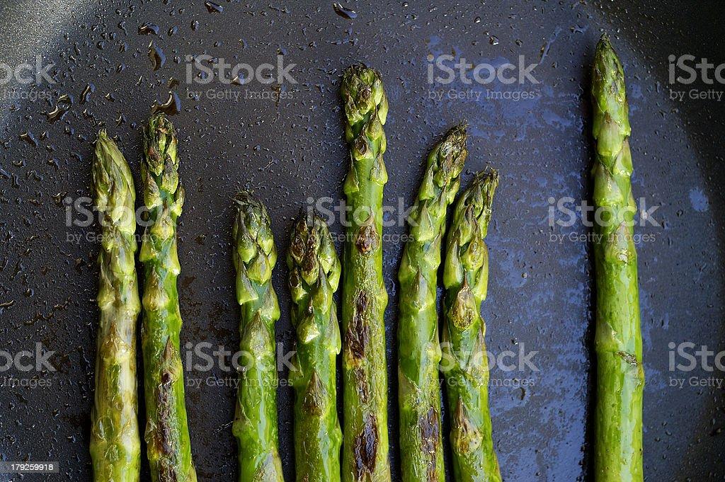 Sauteed Asparagus stock photo