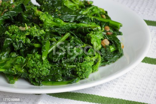 Italian style sauteed broccoli rape with garlic and olive oil
