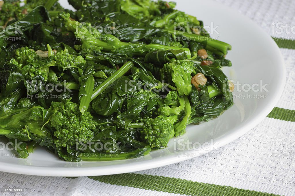 Sauteed Broccoli Rape stock photo