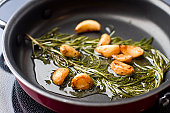 Sauteed Garlic and Rosemary in Olive OIl