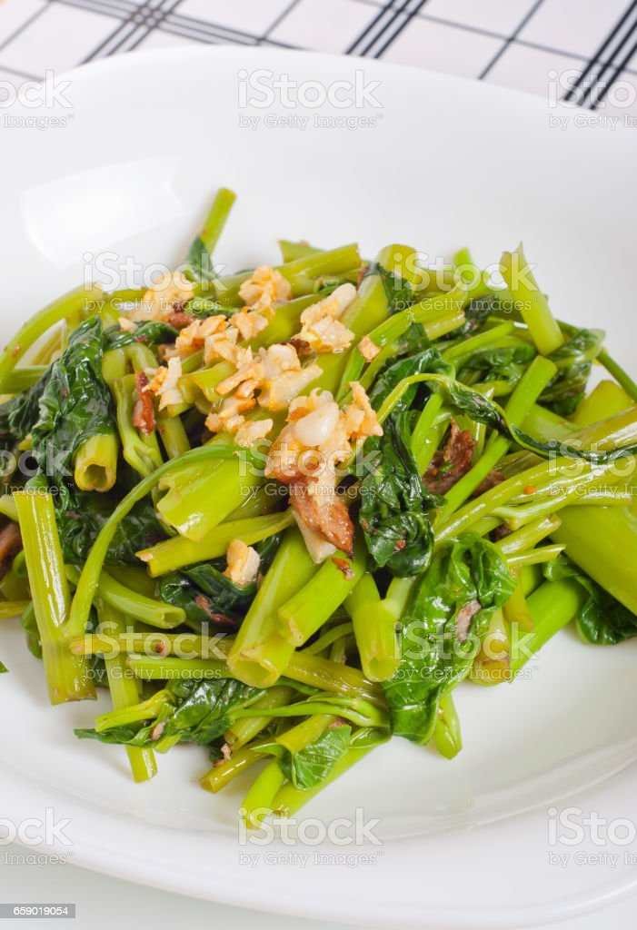 Sauteed Garlic Kangkong Stock Photo Download Image Now Istock