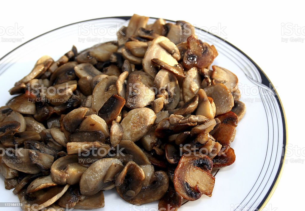 Sauteed Mushrooms Isolated royalty-free stock photo