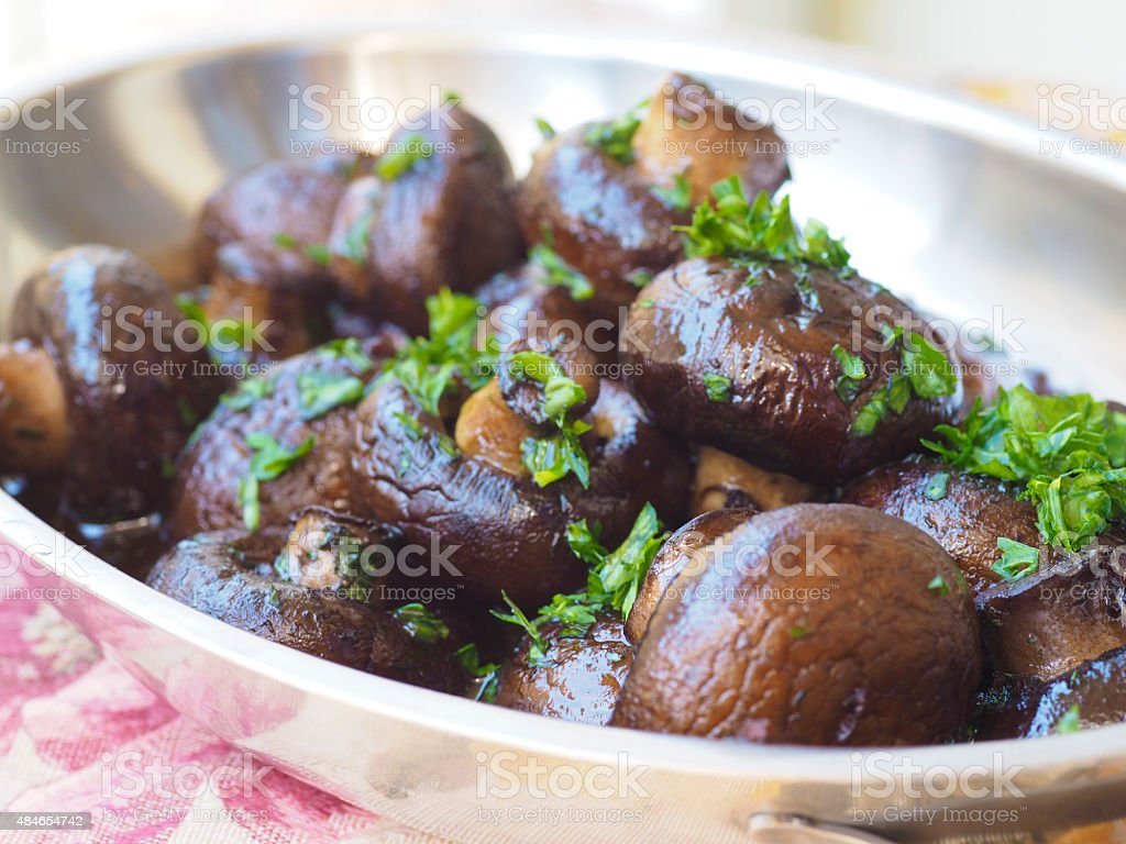 Sauteed Mushrooms stock photo
