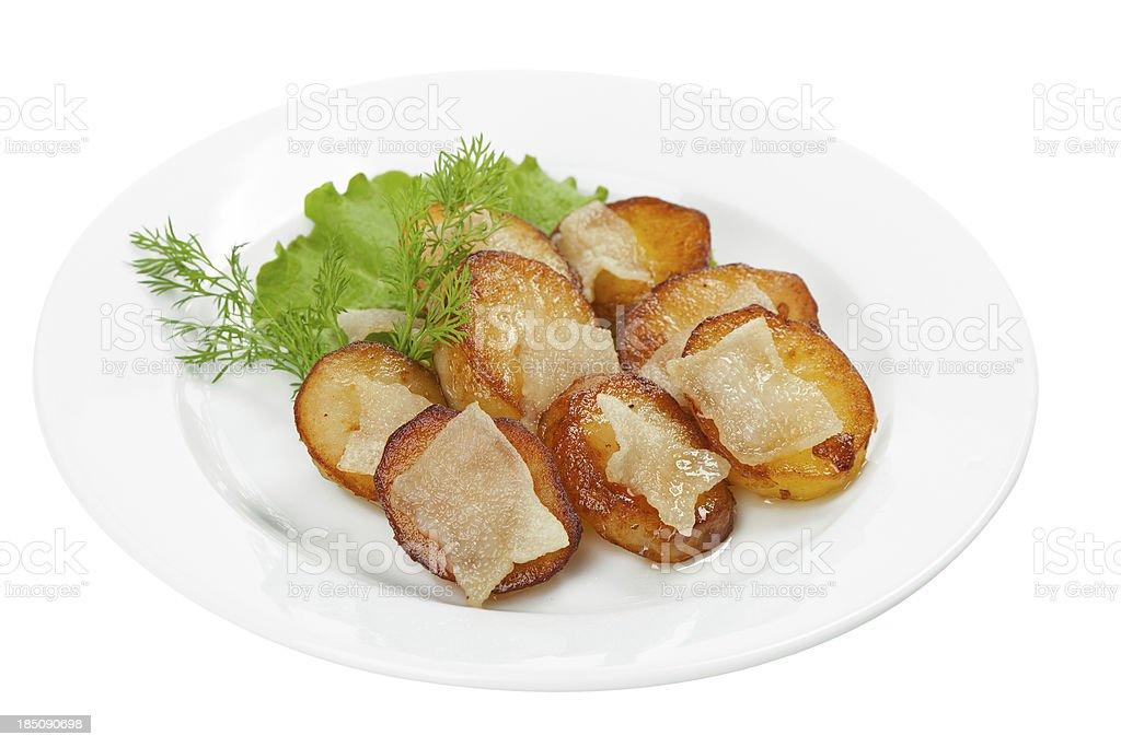 Sauteed potatoes stock photo