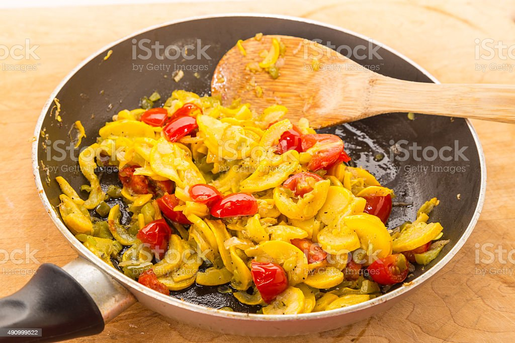 Sauteed Squash stock photo