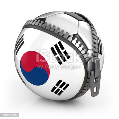 istock Sauth Korea football nation 3d isolated illustration 885571242