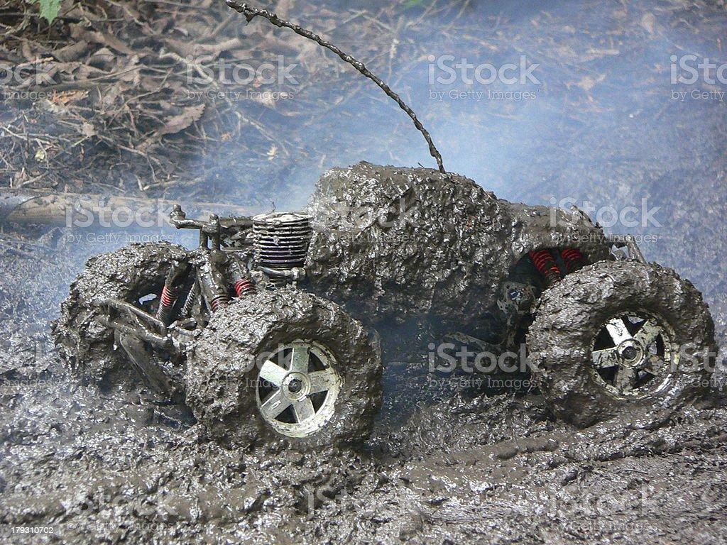 HPI Savage 21 - Mud Bogging royalty-free stock photo